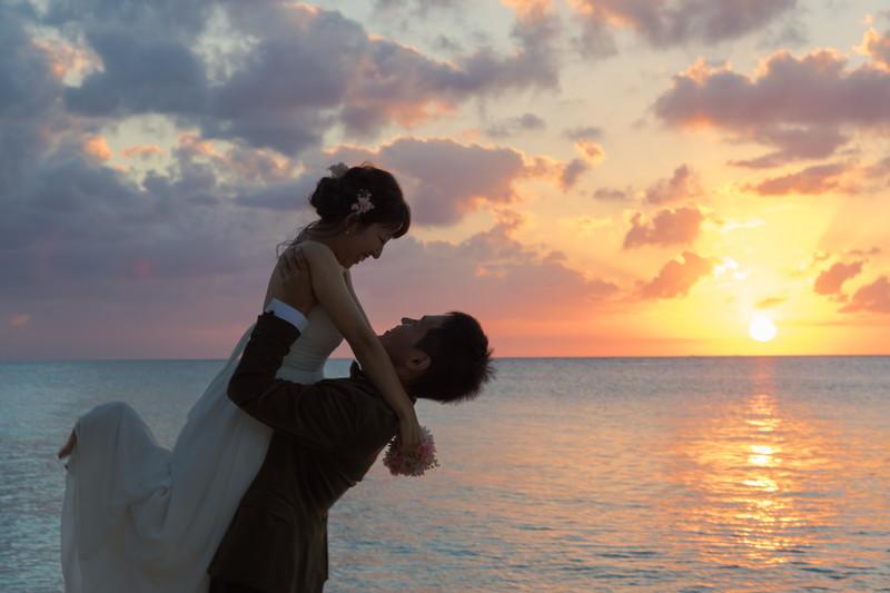海辺 新婚